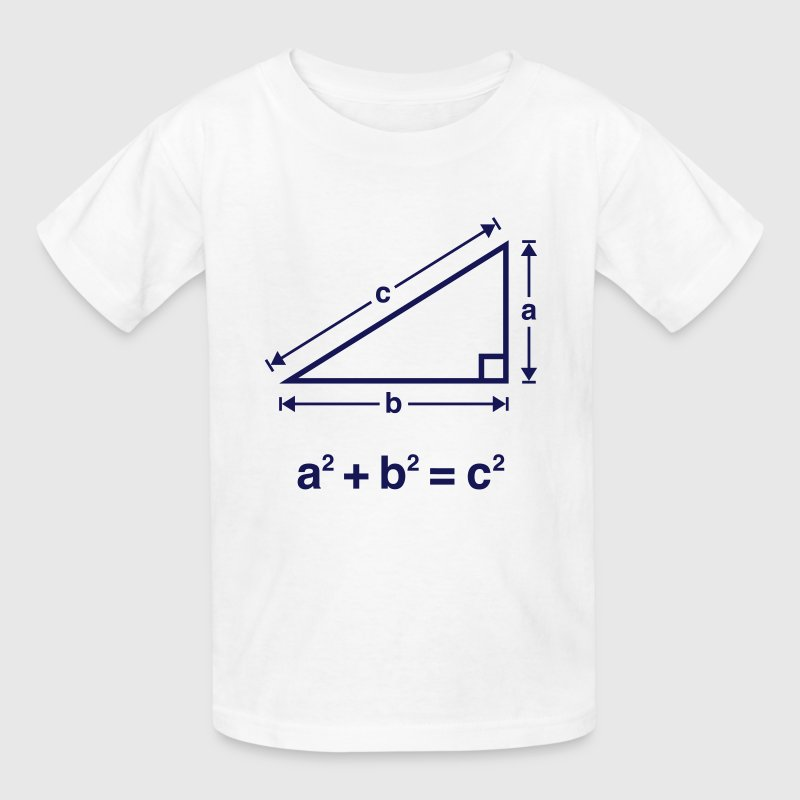 Pythagorean Theorem (Mathematics) - Kids' T-Shirt