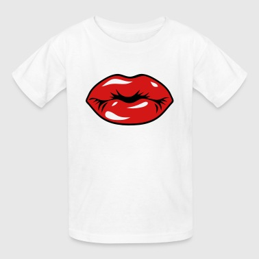SEXY RED LIPS - KISS - Kids' T-Shirt