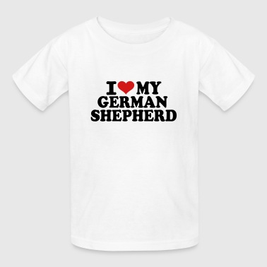 I love my German Shepherd - Kids' T-Shirt