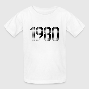 1980, Numbers, Year, Year Of Birth - Kids' T-Shirt