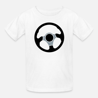 Car Wheel Wheel of a car Drivers wheel control - Kids' T-Shirt