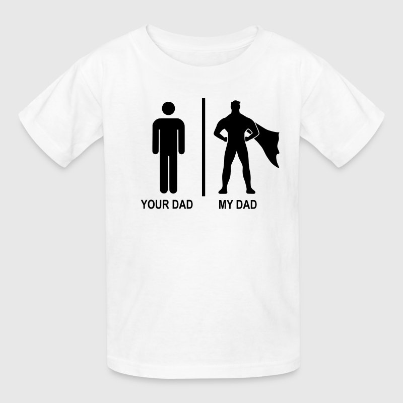 your dad, my dad black - Kids' T-Shirt