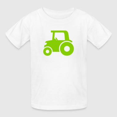 Big Wheel Tractor Silhouette - Kids' T-Shirt