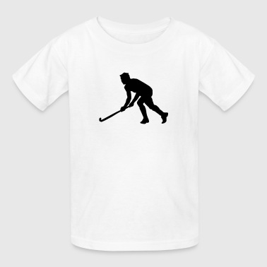 Playing Hockey Silhouette (Sport) - Kids' T-Shirt