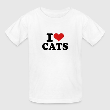 I love Cats - Kids' T-Shirt
