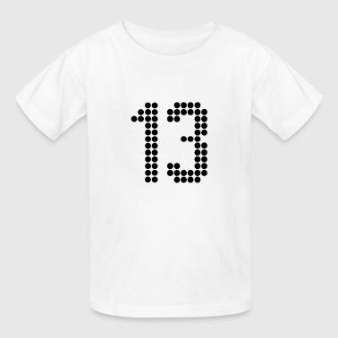 13, Numbers, Football Numbers, Jersey Numbers - Kids' T-Shirt