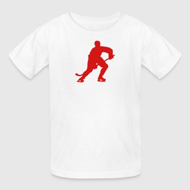 hockey silhouette - Kids' T-Shirt