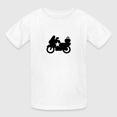 Police Bike Silhouette - Kids' T-Shirt