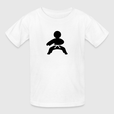 Karate (Stickman / Stickfigure) - Kids' T-Shirt