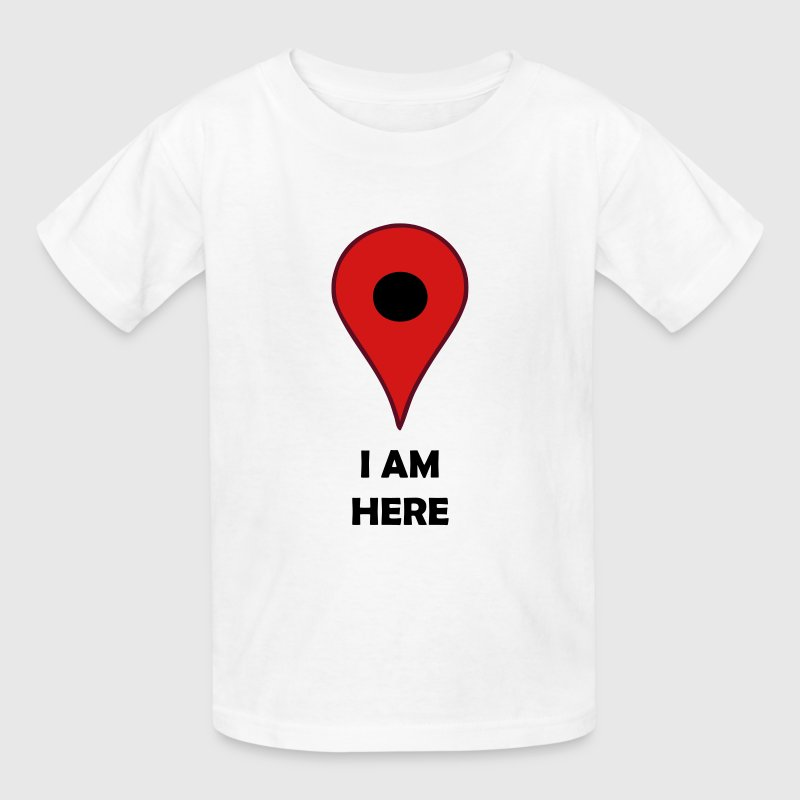 I AM HERE Map Location GPS Symbol - Kids' T-Shirt