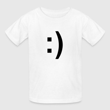 Smiley Face :) - Kids' T-Shirt