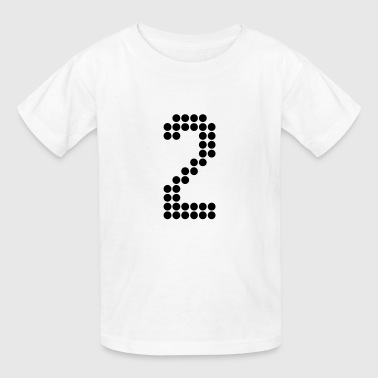 2, Numbers, Football Numbers, Jersey Numbers - Kids' T-Shirt
