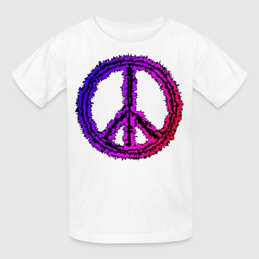 colorful  peace sign - Kids' T-Shirt