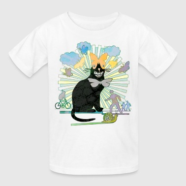 Kitty's got Butterfly Eyes - Kids' T-Shirt