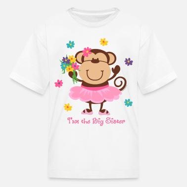 6e500bcc4 Monkey Big Sister - Kids' T-Shirt. Kids' ...