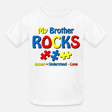 Autistic Autistic Brother Rocks - Kids' T-Shirt