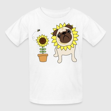 Sunflower Pug - Kids' T-Shirt