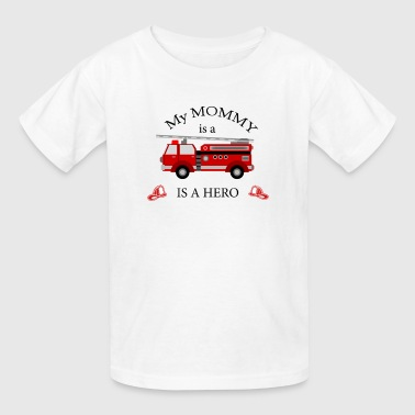 my MOMMY is a hero firefighter themed - Kids' T-Shirt