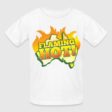 FLAMING HOT Australian fire flames - Kids' T-Shirt