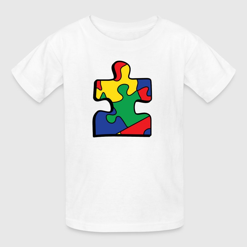 Autism Puzzle Piece - Kids' T-Shirt