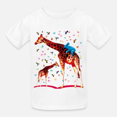 Hummingbird Kids 01 Giraffe Koala and Hummingbirds fairy tales - Kids' T-Shirt
