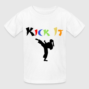 Karate Lady - Kids' T-Shirt