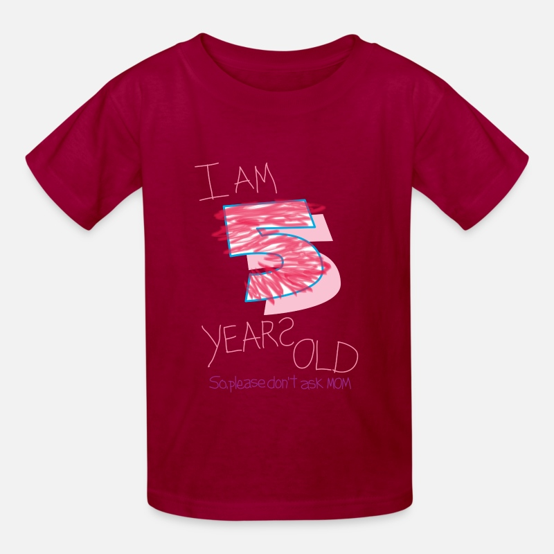 e510e1537 I'm five years old (girl) Kids' T-Shirt | Spreadshirt
