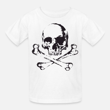 Skull-bone-yellow Skull and Bones - Kids' T-Shirt