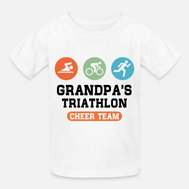 Triathlon Grandpa Support Triathlon Grandpa - Kids' T-Shirt