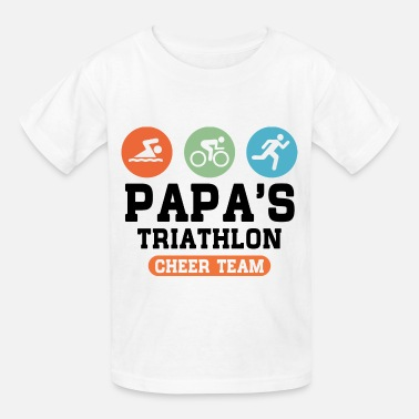 Triathlon Grandpa Triathlon Papa - Kids' T-Shirt