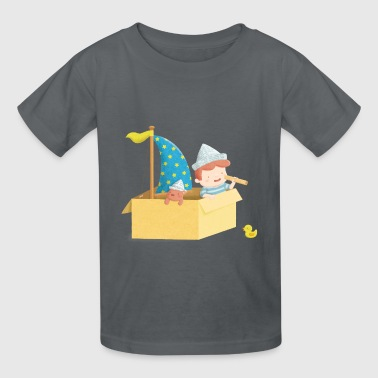 Cute Sailor Boy in Box - Kids' T-Shirt