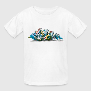 Phame Design for New York Graffiti  - 3D Style - Kids' T-Shirt