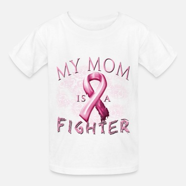 I Wear Pink For My Mom- Breast Cancer Breast Cancer Awareness My Mom Is A Fighter - Kids' T-Shirt