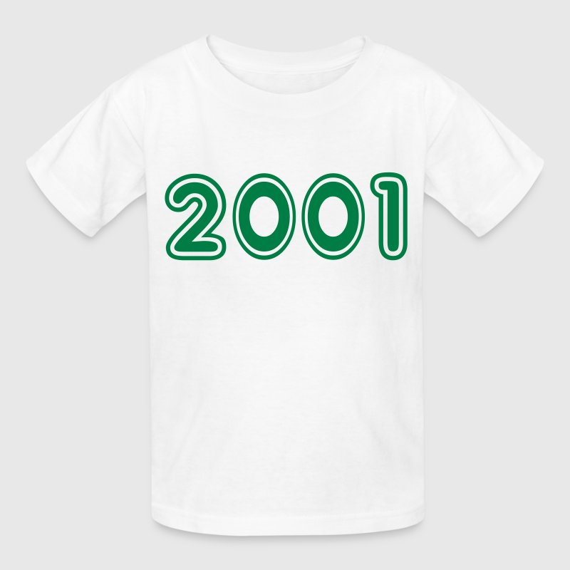 2001, Numbers, Year, Year Of Birth - Kids' T-Shirt