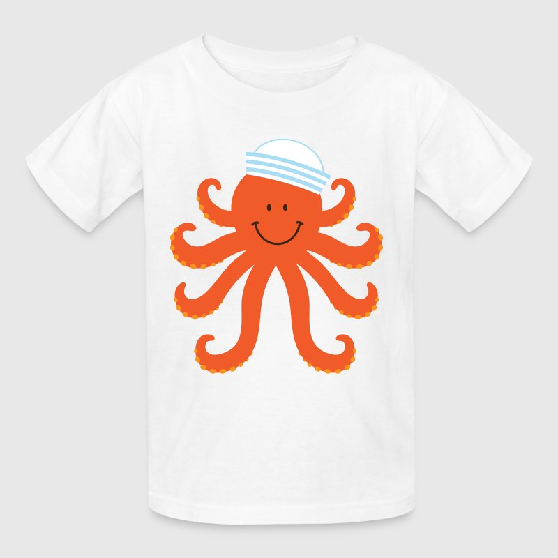 Octopus Sailor Nautical - Kids' T-Shirt