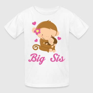 Sis Big Sis Girl Monkey - Kids' T-Shirt