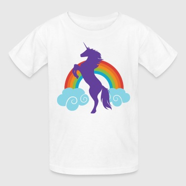 Unicorn Cute Fantasy Rainbow - Kids' T-Shirt