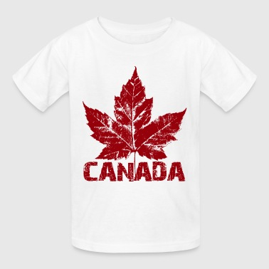Cool Canada Souvenir Distressed Maple Leaf Art for - Kids' T-Shirt