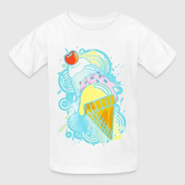 Ice_Cream_Paint - Kids' T-Shirt