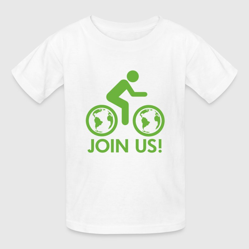 Join Us Bike Earth - Kids' T-Shirt