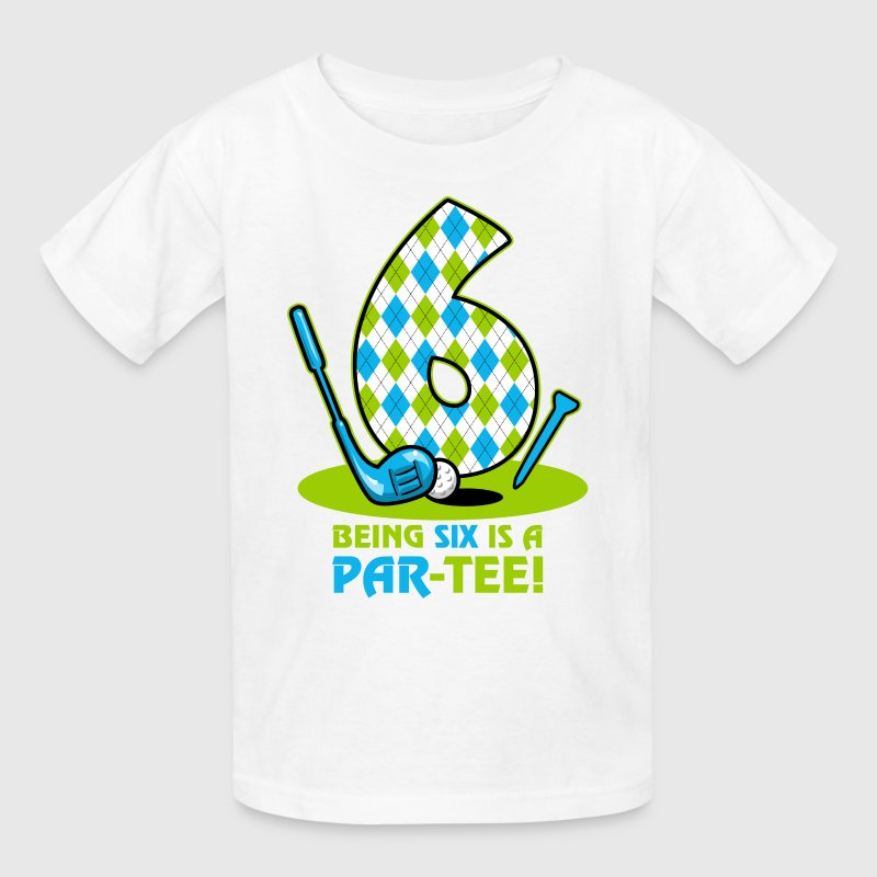 Golf Par-Tee 6th Birthday - Kids' T-Shirt