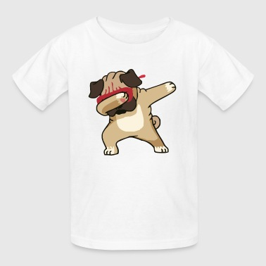 Dabbing Pug Cute Dog - Kids' T-Shirt