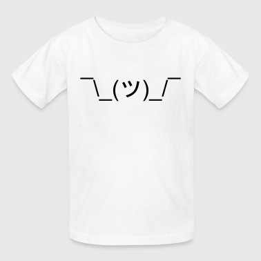 Meme Emoticon *Shrugs* (Shrug Emoticon Meme Face) - Kids' T-Shirt