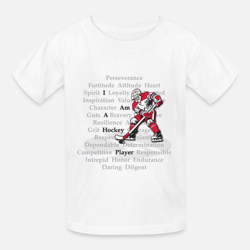 Hockey T-Shirts - I am a Hockey Player - Kids' T-Shirt white