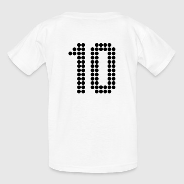 10, Numbers, Football Numbers, Jersey Numbers - Kids' T-Shirt