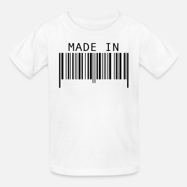 Barcodes Made in ... - Kids' T-Shirt