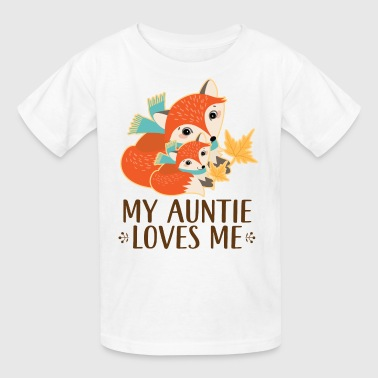 My Auntie Loves Me Fox - Kids' T-Shirt