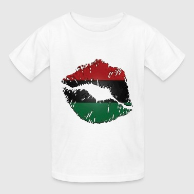 Red, black, green lips - Kids' T-Shirt