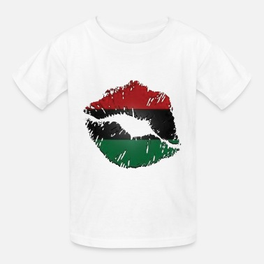 Red Red, black, green lips - Kids' T-Shirt