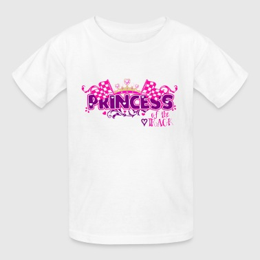Cute Girls Racing Design Princess of the Track - Kids' T-Shirt